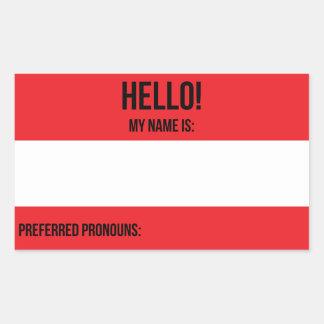 Preferred Pronouns Sticker