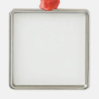 preggers Silver-Colored square ornament
