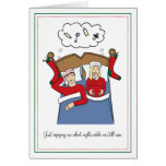 Pregnancy Christmas Cards - BLONDE Silent Nights