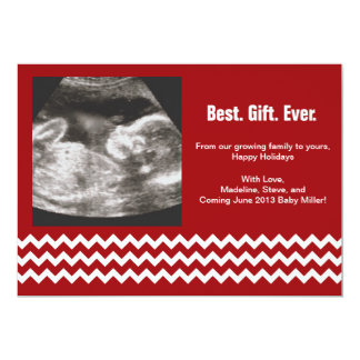 Pregnancy Christmas Cards Ultrasound Announcements