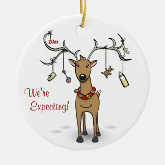 Pregnancy Christmas Ornament - Reindeer Ultrasound