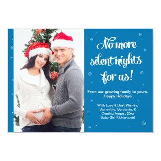 "Pregnancy Christmas Photo Card Announcement- Night 5"" X 7"" Invitation Card"
