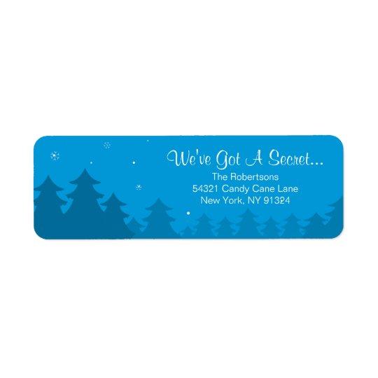 Pregnancy Christmas Return Address Label- Coming
