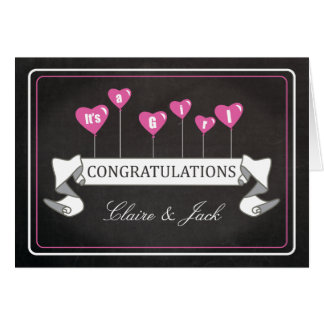 Pregnancy Congratulations It's a Girl New Baby Greeting Card