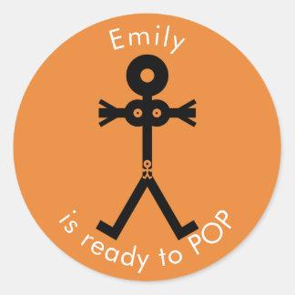 Pregnancy Icon Ready to POP Classic Round Sticker
