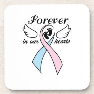 Pregnancy Infant Loss Awareness Forever Our Hearts Coaster