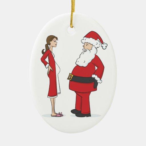 Pregnancy Ornament - BRUNETTE Jelly Oval