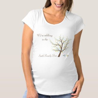 Pregnancy Reveal Adding to The Family Tree Maternity T-Shirt