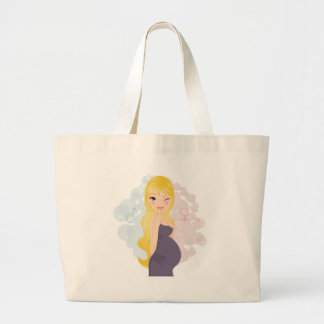 Pregnant girl or boy jumbo tote bag