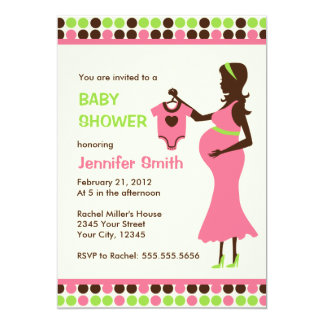 Pregnant Lady Baby Shower Card