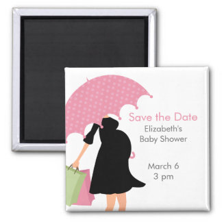 Pregnant Mom Baby Shower {pink} Magnet