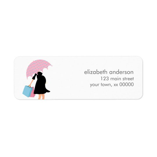 Pregnant Mom Baby Shower Return Address Label