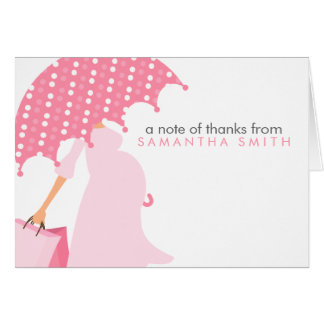 Pregnant Mom Baby Shower Thank You Notes