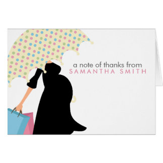 Pregnant Mom Baby Shower Thank You Notes Cards
