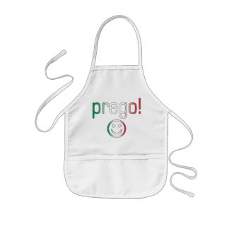 Prego Italy Flag Colors Aprons