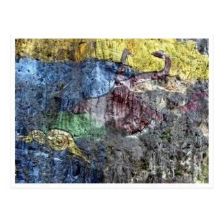 prehistoria mural postcard