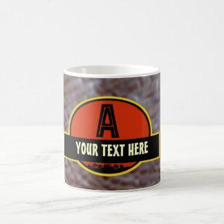 """Prehistoric """"A"""" Monogram Mug"""