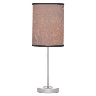 Prehistoric Carved Drawings In The Desert Table Lamp
