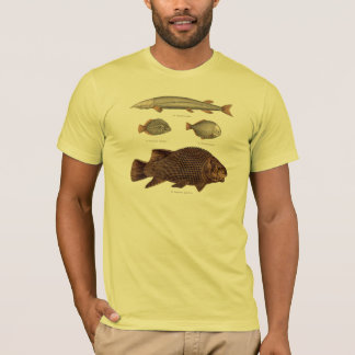 Prehistoric Fish Antique Print T-Shirt