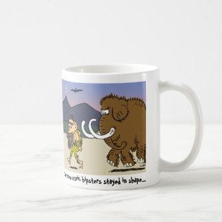 prehistoric hipster coffee mug