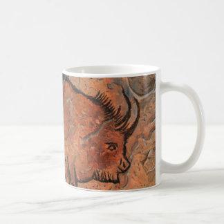 Prehistoric painting basic white mug