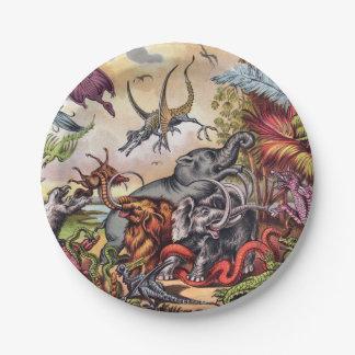 Prehistoric Playground Paper Plate