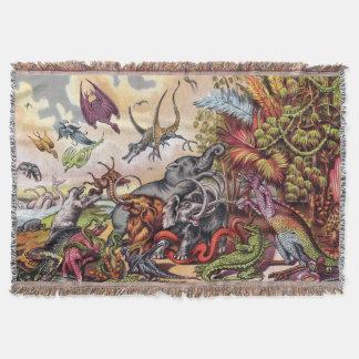 Prehistoric Playground Throw Blanket