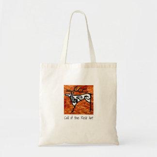 Prehistoric rock art deer tote bag