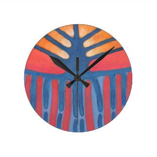 Prehistoric Tree Round Clock