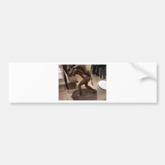 Prehistoric woman carrying an antelope bumper sticker