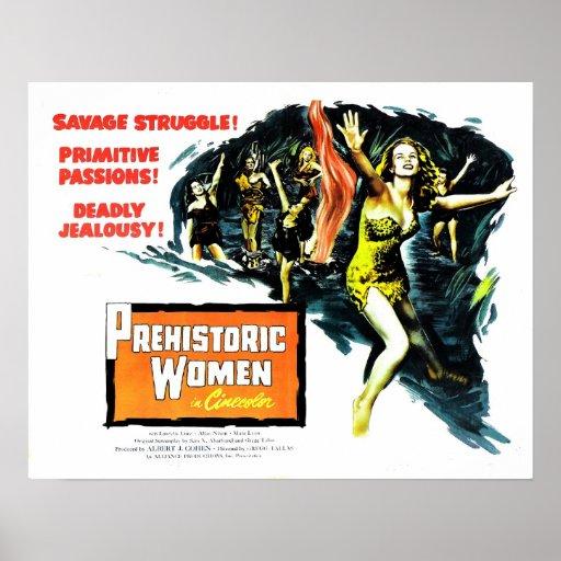 """Prehistoric Women"" Poster"