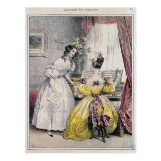 Prelude, from 'Journal des Femmes', 1830-48 Postcard