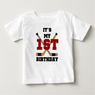 Premier anniversaire d'hockey t-shirt pour bébé