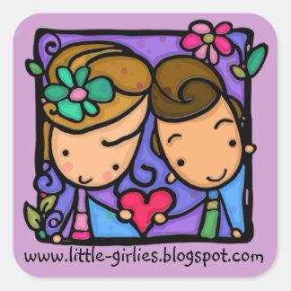 Premier autocollant de coutume d'amour de LittleGi