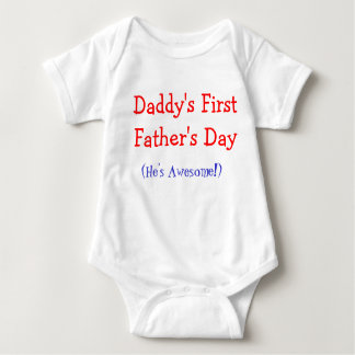 Premier bébé Onsie de la fête des pères du papa T Shirts