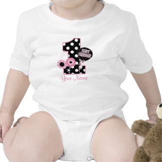 Premier chemise personnalisée de rose de filles d' t-shirt