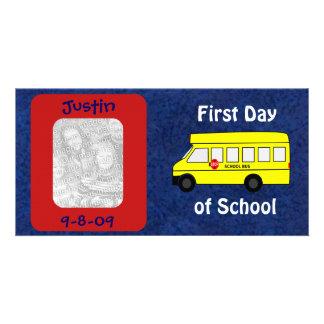 Premier jour d école cartes de vœux avec photo