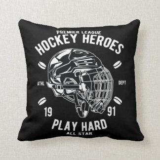 Premier League Hockey Heroes Play Hard All Star Throw Pillow