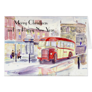 Premier Leyland Tiger Christmas card