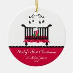 Premier Noël de bébé - bas de huche et de Noël