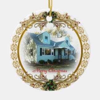 Premier Noël en nouvel ornement à la maison