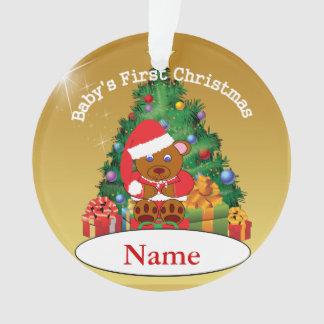 Premier ornement d arbre de Noël du bébé