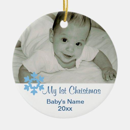 Premier ornement de Noël du bébé