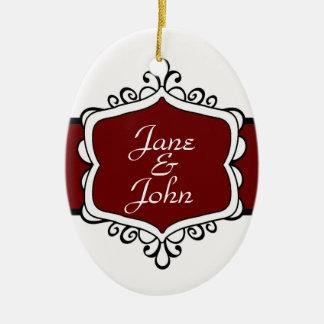 Premier ornement d'ovale de Noël des nouveaux