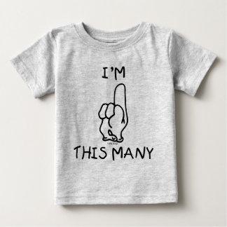 Premier T-shirt d'anniversaire