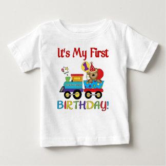 Premier train de l'anniversaire du bébé tee-shirts