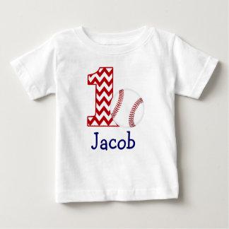 Première chemise d'anniversaire de base-ball tee shirt