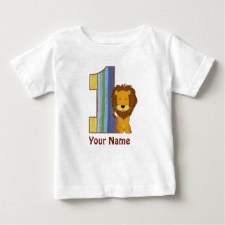 Première chemise de lion d'anniversaire de bébé t-shirt pour bébé