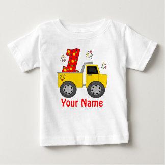 Première chemise personnalisée de camion à benne t-shirt pour bébé