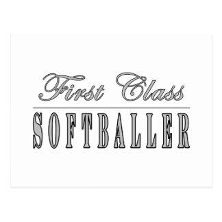 Première classe Softballer de Softballing et de Cartes Postales
